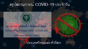 สถานการณ์การติดเชื้อ COVID-19 ในประเทศไทยและทั่วโลก วันพุธที่ 27 มกราคม 2564