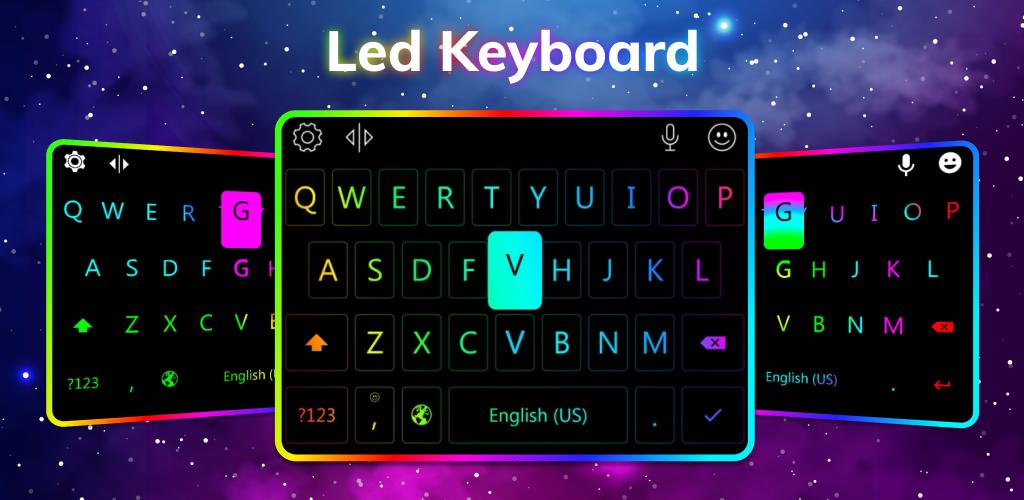 แป้นพิมพ์ LED แอพคีย์บอร์ดที่ใช้งานง่าย สีสันสวยงาม